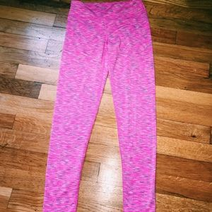 Girls Pink Athletic/Yoga Leggings